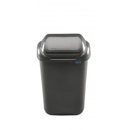 Šiukšliadėžė su dangčiu Standard 30 L, tamsi pilka