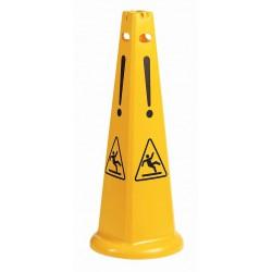 Kūginis saugos ženklas, aukštis 93 cm.
