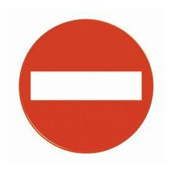 """Raudonas ženklas """"Draudžiama eiti"""" kūginiam ženklui"""
