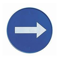 "Mėlynas ženklas ""Rodyklė"" kūginiam ženklui"