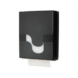 Folded Hand Towel Black