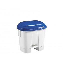 Šiukšlių dėžė su pedalu SIRIUS, mėlynas dangtis, 30 L